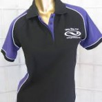 GRO Black & Purple Polo Shirt