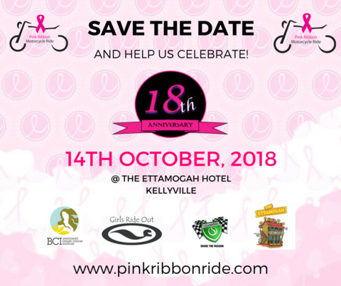 2018 Pink Ribbon Motorcycle Ride